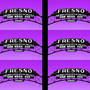Fresno Sign Pillow Design (purple)