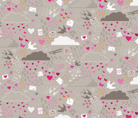 Love is in the Air fabric by lellobird on Spoonflower - custom fabric