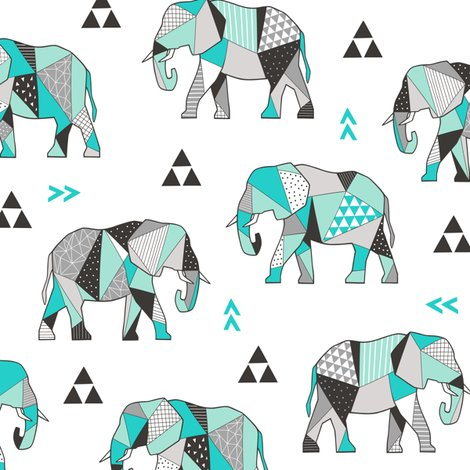 Relephants_geometric_green_shop_preview
