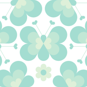 hex drop heart butterfly 3 : mint