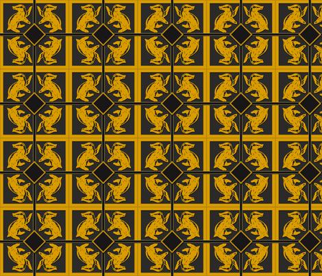 Badger House  Pattern fabric by sharksvspenguins on Spoonflower - custom fabric