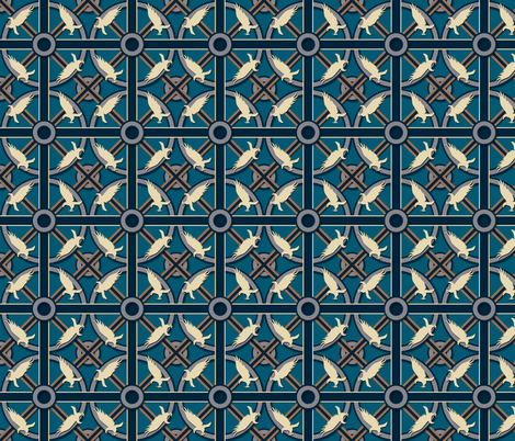 Eagle or Raven House  Pattern fabric by sharksvspenguins on Spoonflower - custom fabric