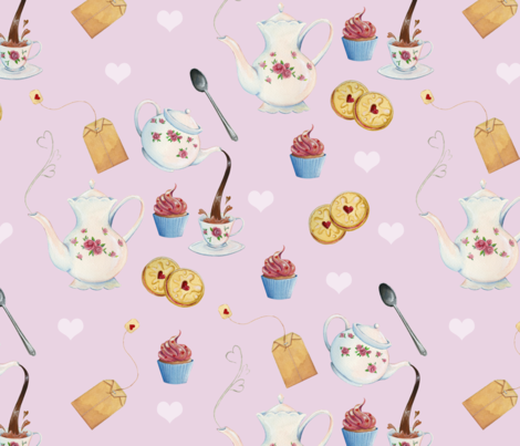 Tea and Sweets fabric by hspiegleman on Spoonflower - custom fabric
