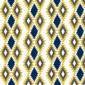 Southwestern Aztec - Navy, mustard, charcoal
