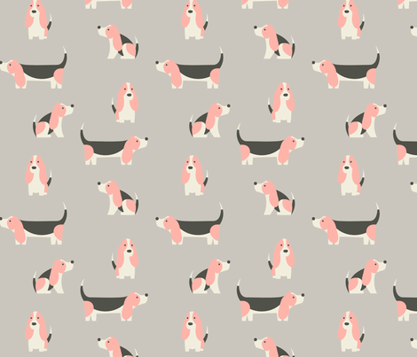 Basset Hound Candy fabric by phirefly_print on Spoonflower - custom fabric