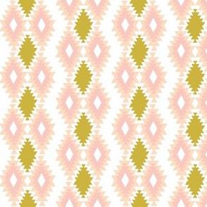 Southwestern Aztec - Gold, Blush, Peach