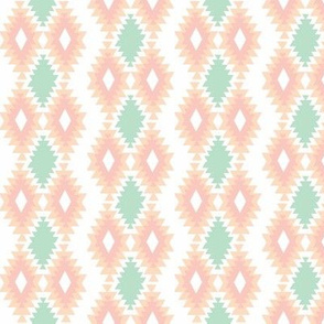Southwestern Aztec - Mint, Blush, Peach