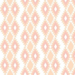 Southwestern Aztec - Peach and Blush