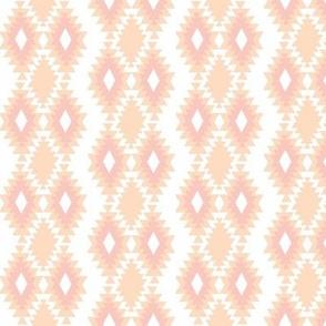 Southwestern Aztec - Peach and Blush