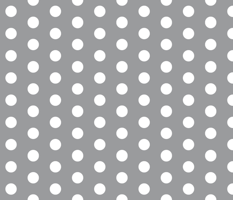 White Polka Dots on Grey - Large fabric by december_rose on Spoonflower - custom fabric