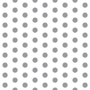 Grey Polka Dots - Large