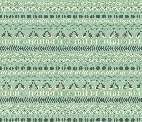 Tribal Stripe fabric by lynnbishopdesign on Spoonflower - custom fabric