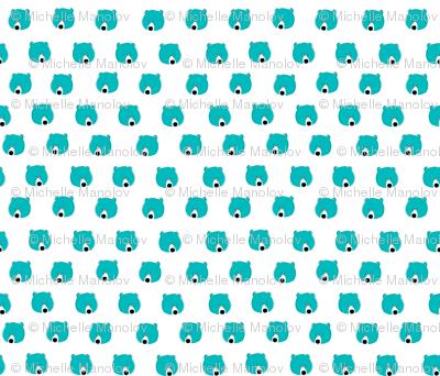 Happy Days Little Bear Face - Blue