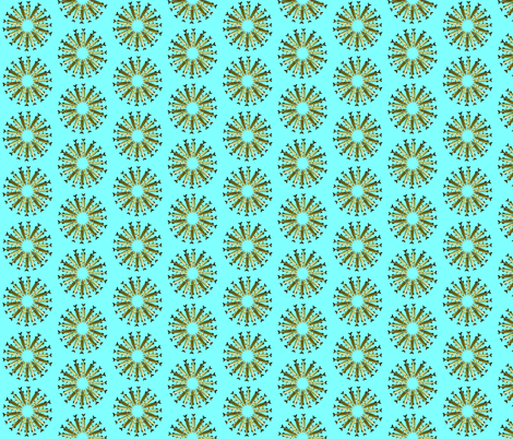 Pike Daisy Ring pattern fabric by combatfish on Spoonflower - custom fabric