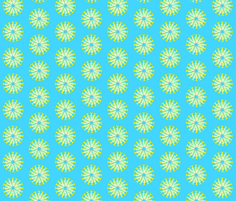 Yellowtail Snapper 8 by 8  fabric by combatfish on Spoonflower - custom fabric