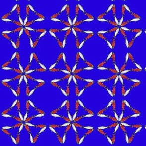 Salmon Triangle Cross Pattern