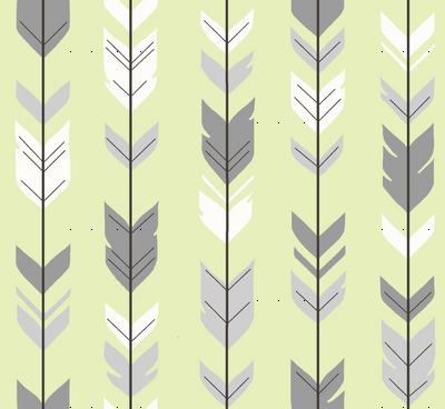 Arrow Feather- Sherwood Forest Woodland Nurserygender a Neutral Baby