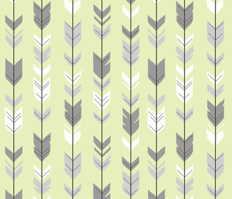 Arrow Feather- Sherwood Forest Woodland Nurserygender a Neutral Baby fabric by sugarpinedesign on Spoonflower - custom fabric