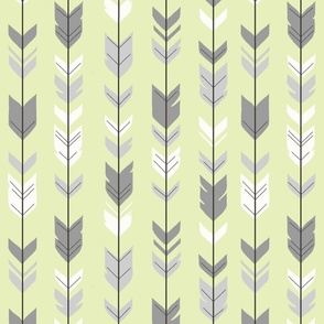Arrow Feather- Sherwood Forest Woodland Nurserygender a Neutral Baby