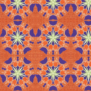 Iris Garden Kaleidoscope-Coral