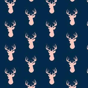 deer- navy/pink