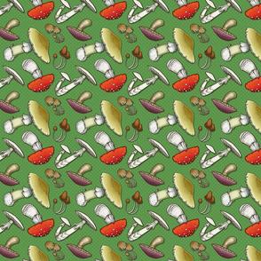 Mushroom Mayhem - Green