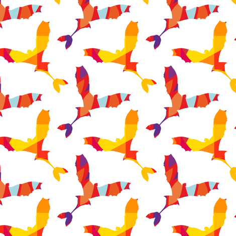 Dragon Vibrant fabric by versodile on Spoonflower - custom fabric