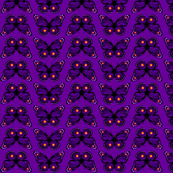 Purple Butterfly Orange Dots