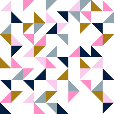 Triangle Parade  fabric by littlearrowdesign on Spoonflower - custom fabric
