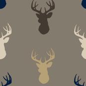 Deer-Cedar Ridge-brown/navy