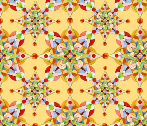 Constellation Starburst fabric by patriciasheadesigns on Spoonflower - custom fabric