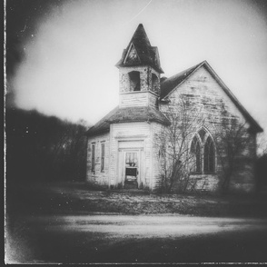 Abandoned Church in Black and White