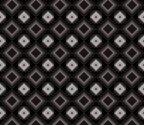 Gray Pink Diamonds fabric by mopeysealion on Spoonflower - custom fabric