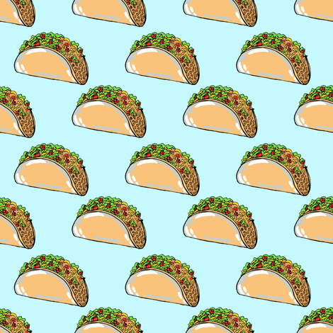 Tacos- small scale fabric by tarareed on Spoonflower - custom fabric