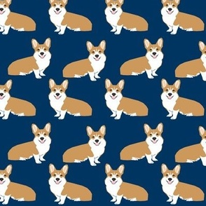 corgi dog pet puppy dogs corgis cute navy blue corgi fabric