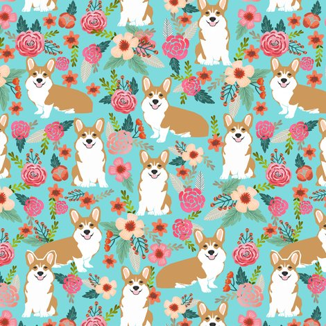 Corgi Pet Dog Sweet Corgis Dog Puppy Pet Fabric Featuring