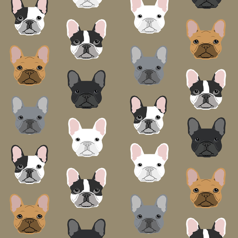 French Bulldog design sweet dogs pet puppy puppy dogs sweet frenchies dogs fabric by petfriendly on Spoonflower - custom fabric