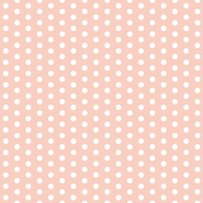 White Polka Dots on Peach