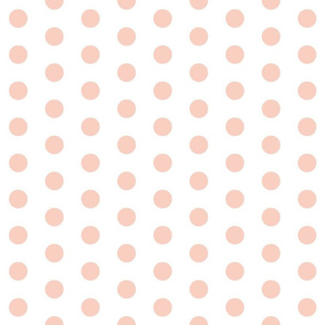 Peach Polka Dots - Large