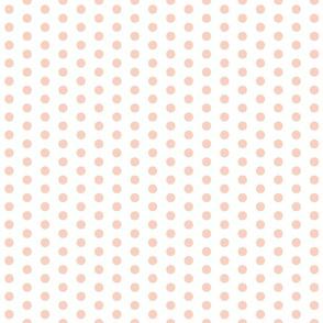 Peach Polka Dots
