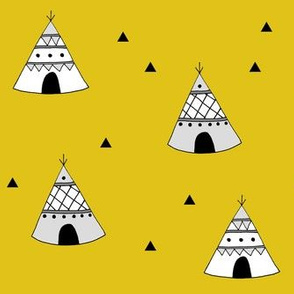 Teepees Yellow