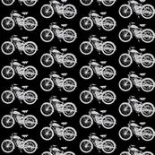 """Vintage Motorcycles in Grey & Black (2"""")"""