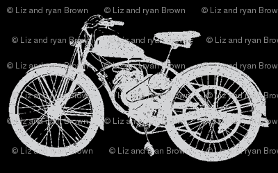 Grey Vintage Motorbikes // Small