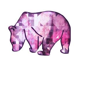 Orchid Geo Bear Pillow - Cut & Sew