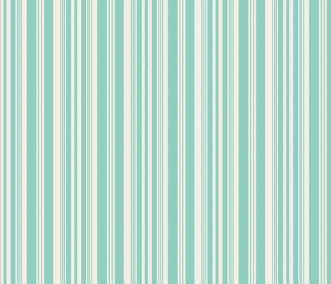 16-02r Mint and Cream Stripe_Miss Chiff Designs fabric by misschiffdesigns on Spoonflower - custom fabric