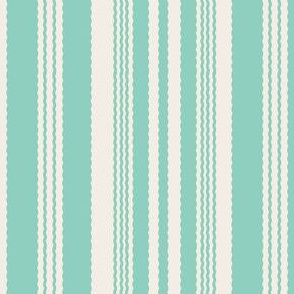 Mint and Cream Stripe_Miss Chiff Designs