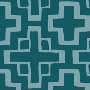 lrg scale mosaic pool tiles in ocean blue