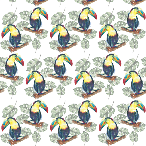 Toucans  fabric by sharonting on Spoonflower - custom fabric