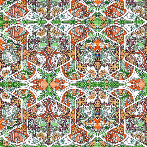 That Hexagonal Fall  fabric by edsel2084 on Spoonflower - custom fabric