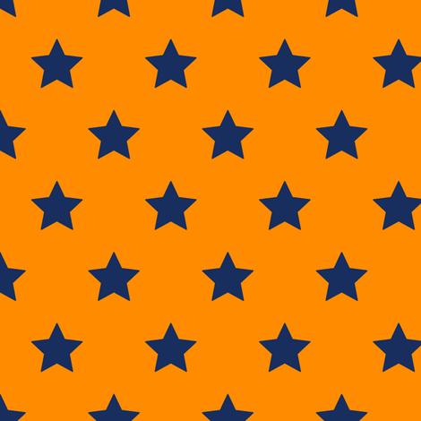 School Idol Cheer (Orange) fabric by sparklepipsi on Spoonflower - custom fabric
